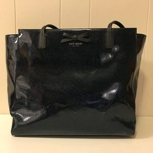 Kate Spade Blue Sparkle Tote Bag
